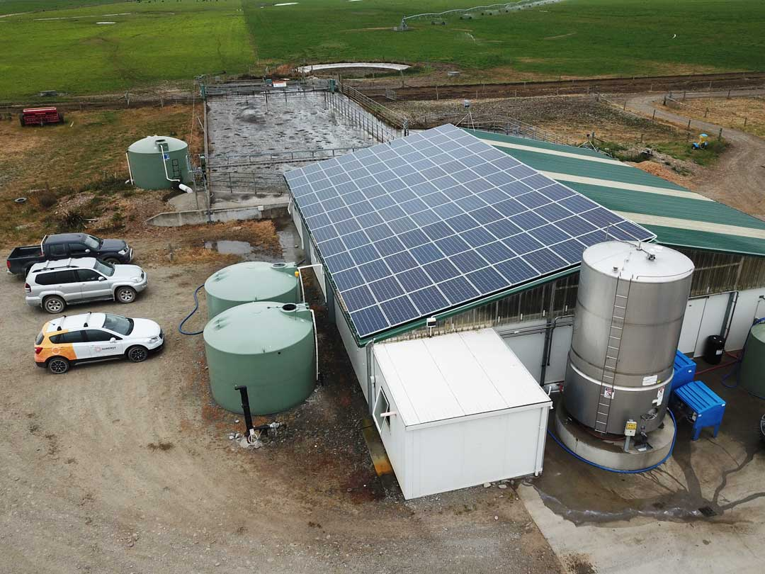 commercial solar panel installation farm milking shed 1