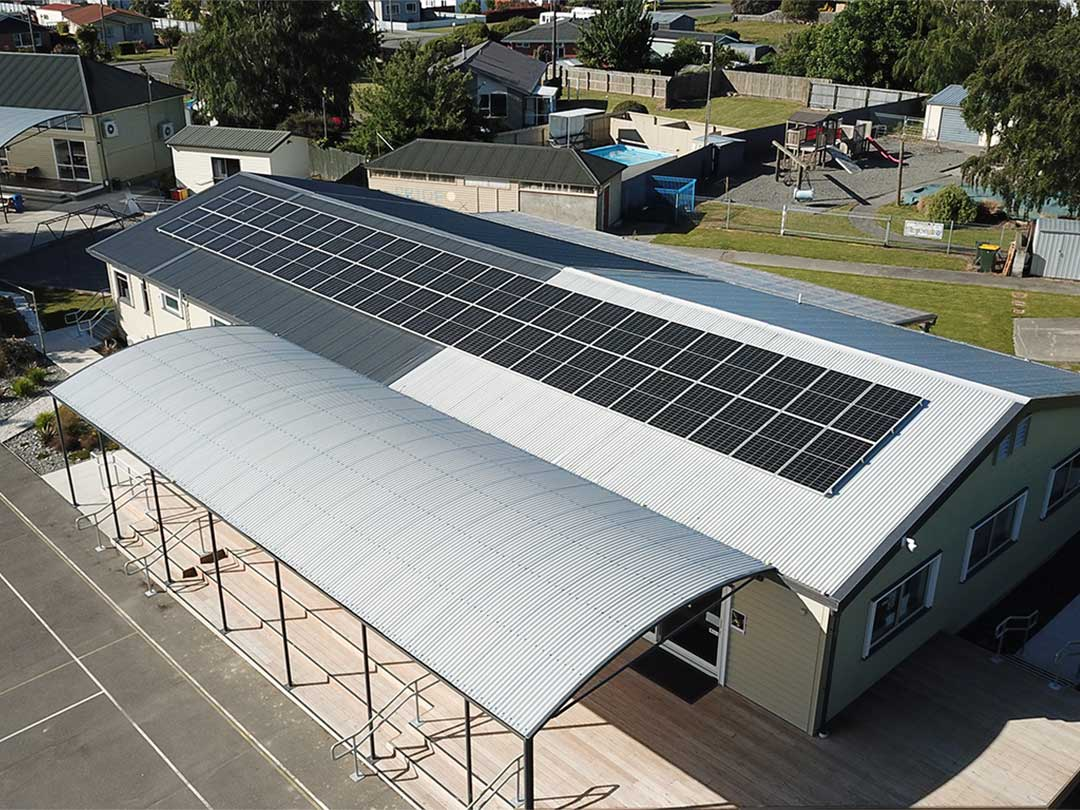 Hinds School Solar power installation
