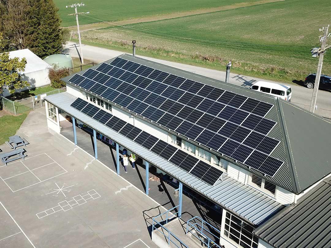 solar panel installation on Makikihi school