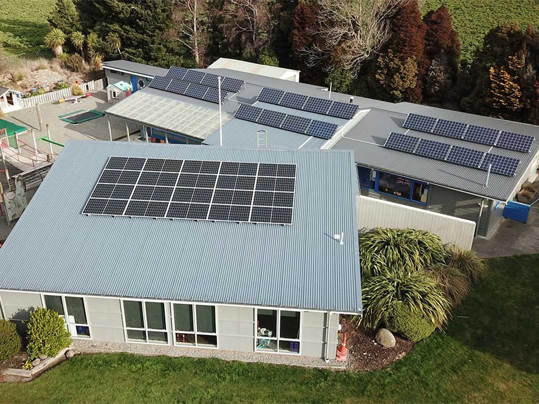 solar panel installation on Hinds school