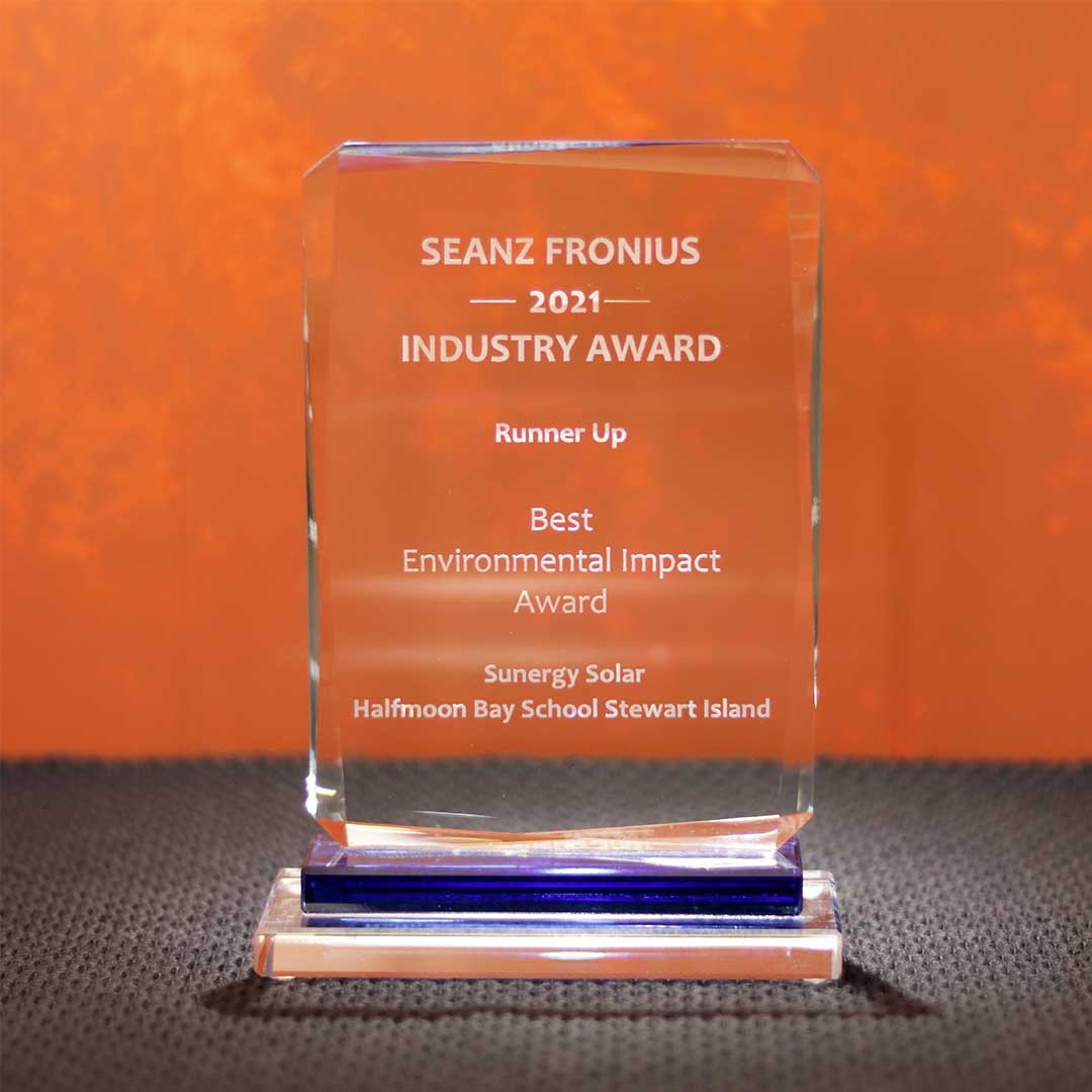 SEANZ Best Environmental Impact award